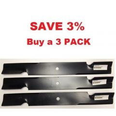 "Save 3% when you purchase a 3 pack of 36"" & 52"" Scag Mower Deck Blades, Cutter 18"" Aftermarket Scag Mower Blades that are made to Scag OEM Specs."