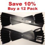 "12 pack of 36"" & 52"" Scag Mower Deck Blades, Cutter 18"" Aftermarket Scag Mower Blades that are made to Scag OEM Specifications - Replaces 482878 Scag"