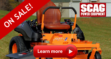 Scag Mowers on sale! Save on Scag Mower Parts and Accessories