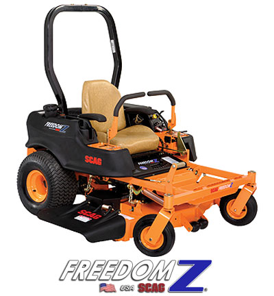 Learn more about the Scag Freedom Z Mower. Info on Scag Freedom Z Mowers, Parts and Accessories.