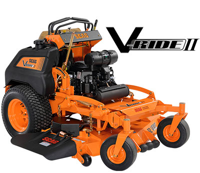 Learn more about the Scag V-Ride II. Info on V Ride II Lawn Mowers, Parts and Accessories.