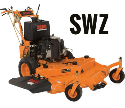 Learn more about the Scag SWZ Hydro Walk Behind Lawn Mower. Info on SWZ Mowers, Parts and Accessories.
